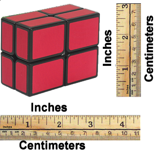 2x2 Windmill Cube Black Body in Red Stickers