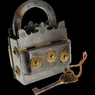 Crown Iron Puzzle Lock