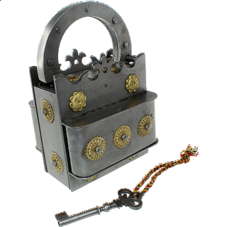 Crown Iron Puzzle Lock