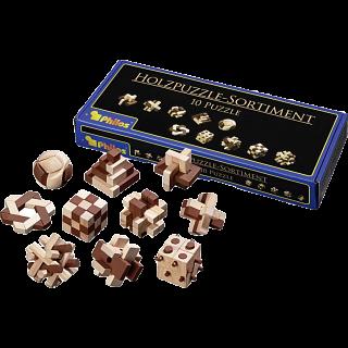 Wooden Puzzle Assortment - 10 Puzzles
