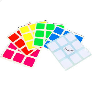 3x3x3 Super Full-Bright Sticker Set