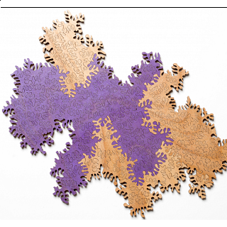 Infinity Puzzle 2-Pack: Natural & Purple
