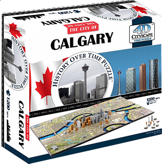 4D City Scape Time Puzzle - Calgary