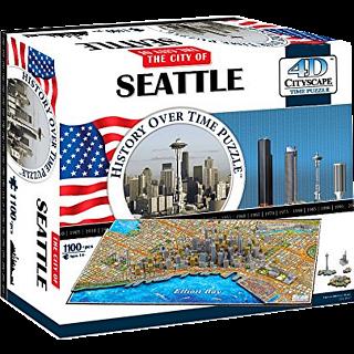 4D City Scape Time Puzzle - Seattle