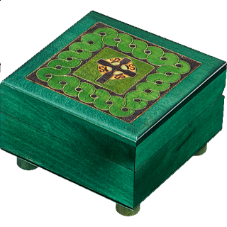 Puzzle Solution for Green Celtic Puzzle Box