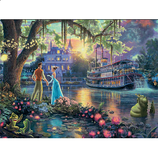 Thomas Kinkade: Disney - The Princess and the Frog - Large Piece