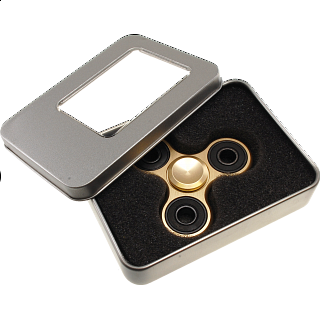 Metal Hand Tri Spinner Anti-Stress Fidget Toy - Gold