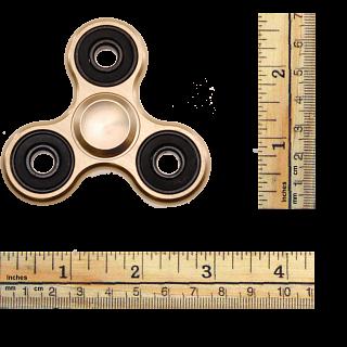 Metal Hand Tri Spinner Anti-Stress Fidget Toy - Gold