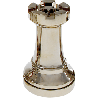 Silver Color Chess Piece - Rook