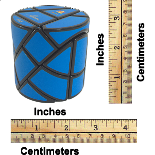 Ghost Hedgehog - Black Body with Blue Labels - in Hex Box