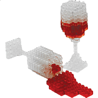 3D Pixel Puzzle - Wine