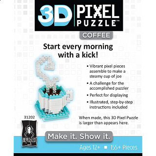 3D Pixel Puzzle - Coffee