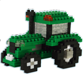 Puzzle Solution for 3D Pixel Puzzle - Tractor
