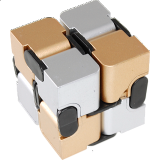 Infinity (Endless Fold) Cube - 2 color (gold & silver)