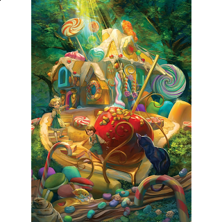Candy Cottage - Family Pieces Puzzle