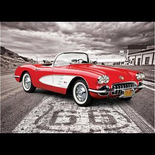1959 Corvette: Driving Down Route 66