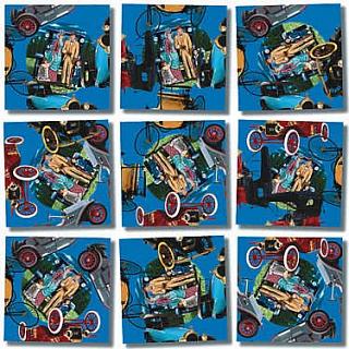 Puzzle Solution for Scramble Squares - Antique Autos