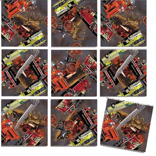 Puzzle Solution for Scramble Squares - Firefighters