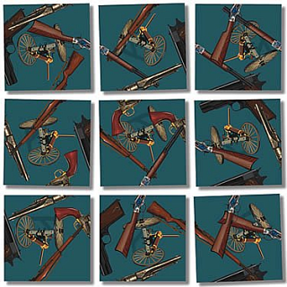 Puzzle Solution for Scramble Squares - Historic Guns