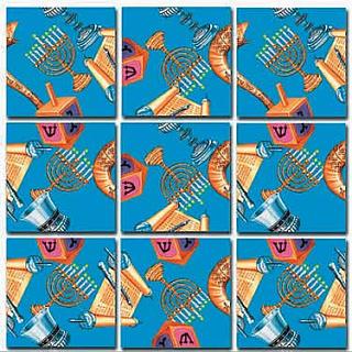 Puzzle Solution for Scramble Squares - Judaica