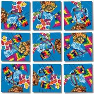 Puzzle Solution for Scramble Squares - Kites