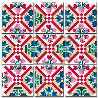 Puzzle Solution for Scramble Squares - Quilt