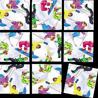 Scramble Squares - Skiing