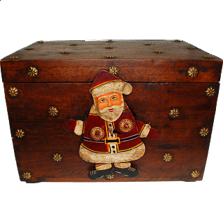 Puzzle Solution for Wooden Gift Box with Iron Santa Lock