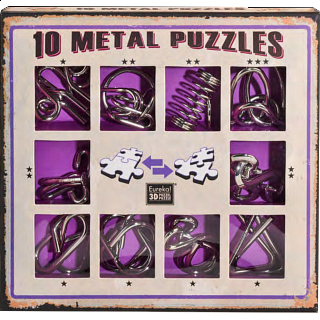 Puzzle Solution for 10 Metal Puzzle Set - Purple