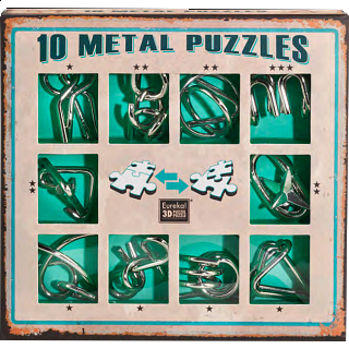 Puzzle Solution for 10 Metal Puzzle Set - Green