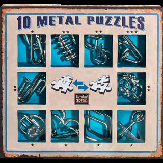 Puzzle Solution for 10 metal puzzle set - Blue