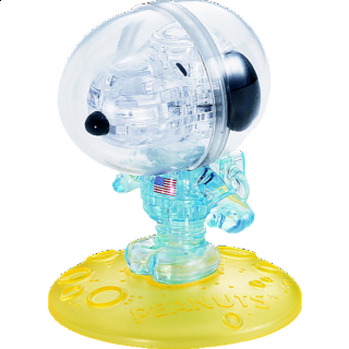 Puzzle Solution for 3D Crystal Puzzle - Astronaut Snoopy