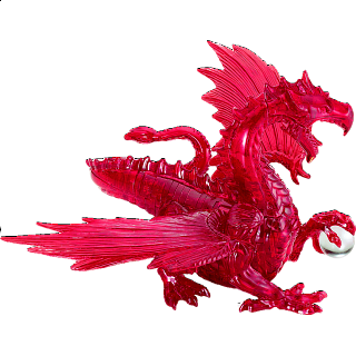 3D Crystal Puzzle Deluxe - Dragon (Red)