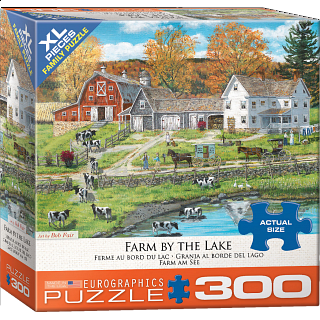 Farm By The Lake - Large Piece