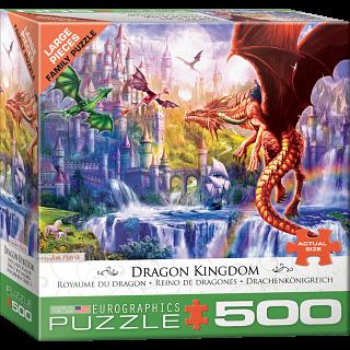 Dragon Kingdom - Large Piece Jigsaw Puzzle