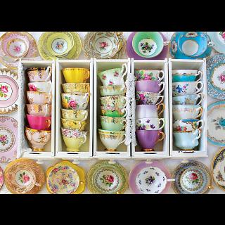 Colorful Tea Cups