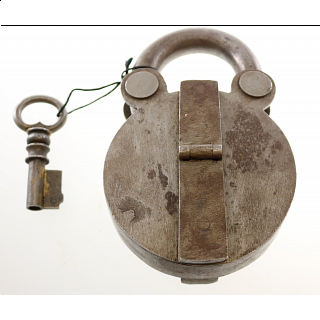 Antique Puzzle Lock 'B'