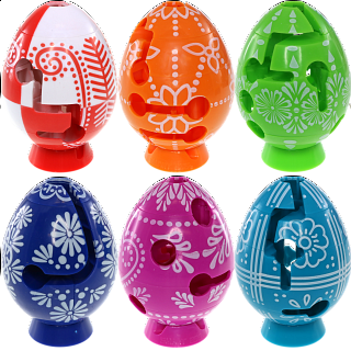 Group Special - A set of 6 Easter Smart Egg Labyrinth Puzzles