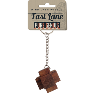 Pure Genius Keychain Puzzle - Fast Lane