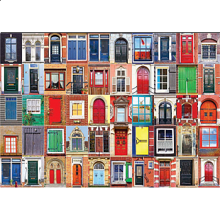 Colorluxe: Colorful Dutch Windows and Doors