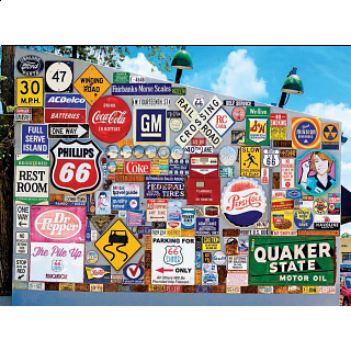 Colorluxe: Old Ad Signs, Road Signs and Vehicle License Plates