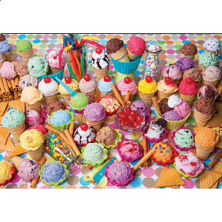Colorluxe: Variety of Colorful Ice Cream