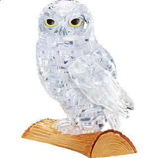 Puzzle Solution for 3D Crystal Puzzle - Owl (White)