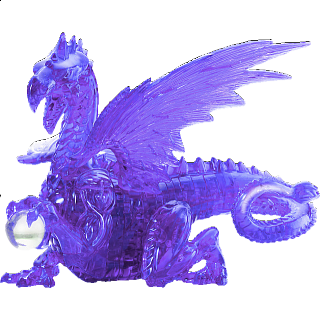 3D Crystal Puzzle Deluxe - Dragon (Purple)