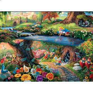 Thomas Kinkade Disney - Alice In Wonderland - Large Piece