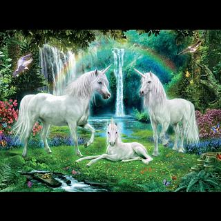 Glitter Unicorns: Rainbow Unicorn Family