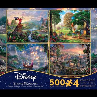 Thomas Kinkade: Disney 4 in 1 Jigsaw Puzzle Collection #2