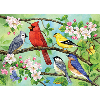 Bloomin' Birds - Family Pieces Puzzle
