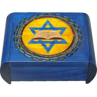 Star of David with Book - Secret Box