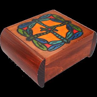 Dragonfly Secret Box - Brown